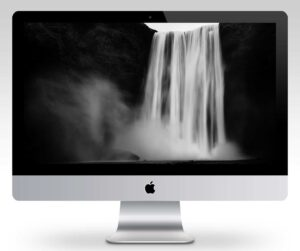 Skogafoss Waterfall Wallpaper Mockup