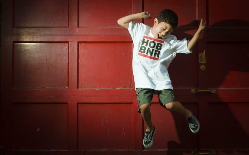 Hoboken Boy Jumping - Omar Gonzalez