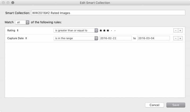 Smart Collection Settings