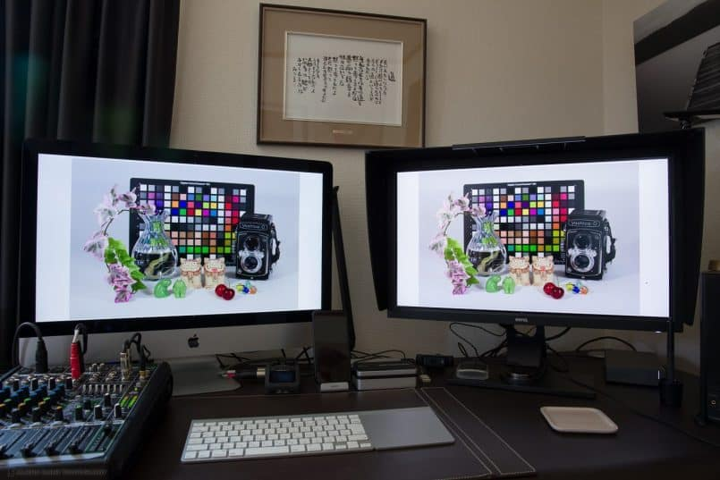 "BenQ SW2700PT with iMac 27"" Display"