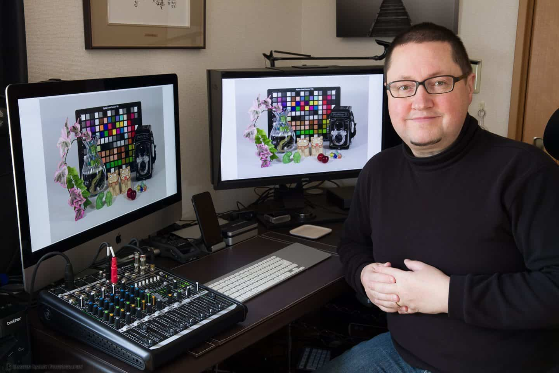 Martin at Workstation