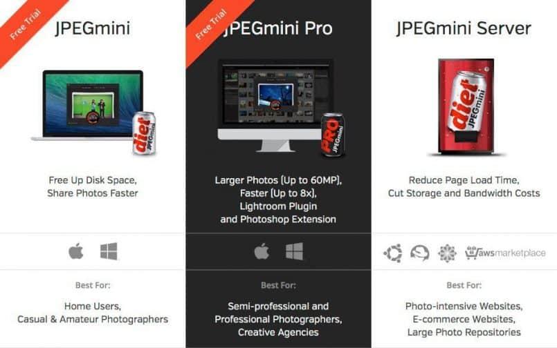 JPEGmini Product Lineup