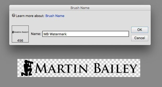 Photoshop Elements - Create Watermark Brush