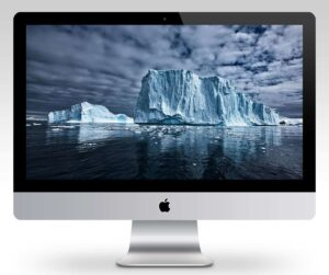 Monumental Icebergs Wallpaper Mockup