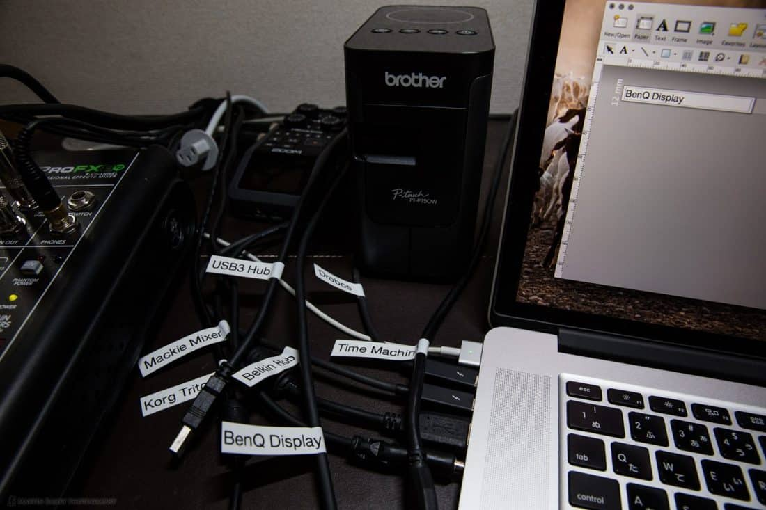 USB Cable Labels and Brother Label Printer