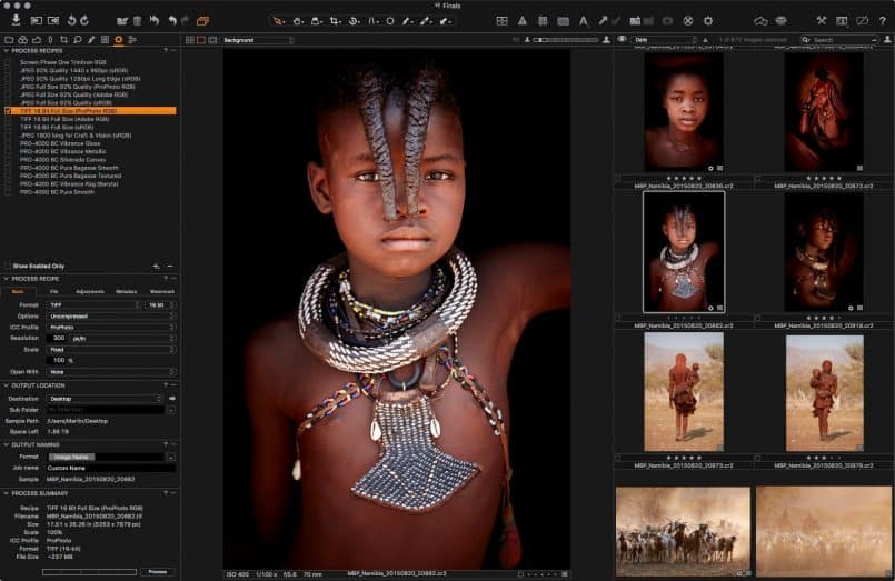 Capture One Pro Output Process Recipes