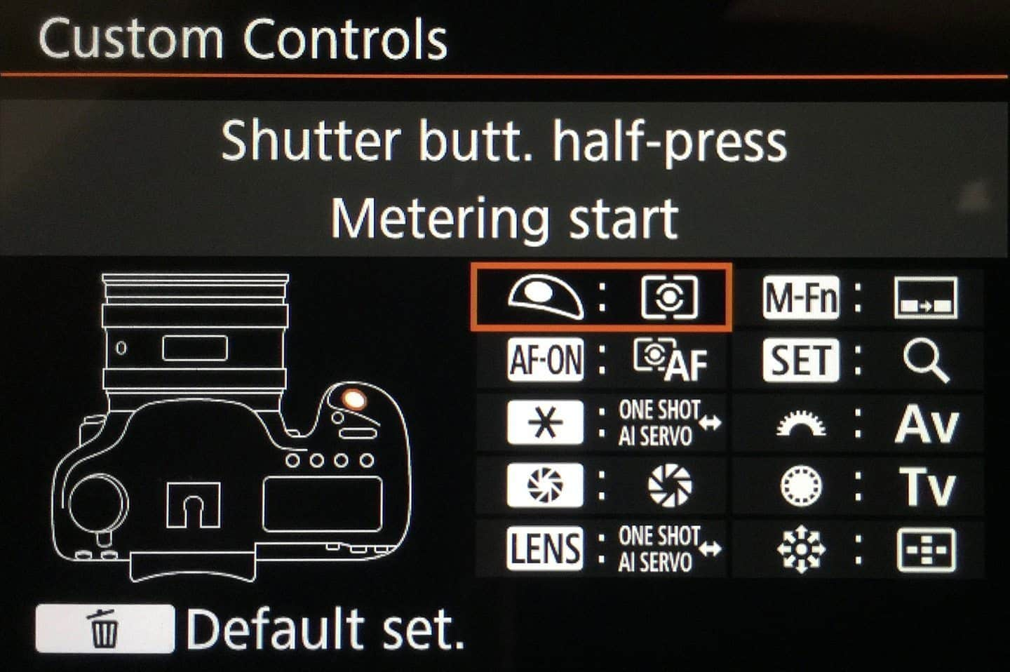 Canon EOS 5Ds R Custom Controls