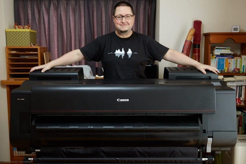 "Martin with the Canon PRO-4000 44"" Printer"