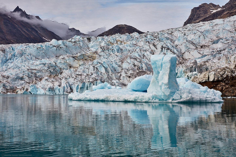Ice Pillar Near Knud Rasmussen Glacier