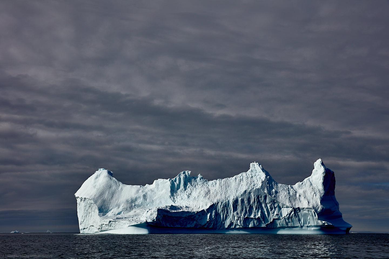 Iceberg with Heavy Sky