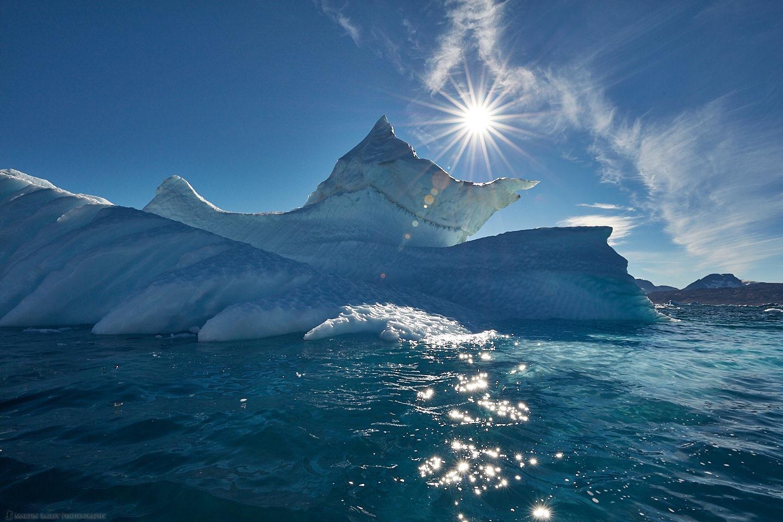 Sermilik Fjord Iceberg with Sunburst