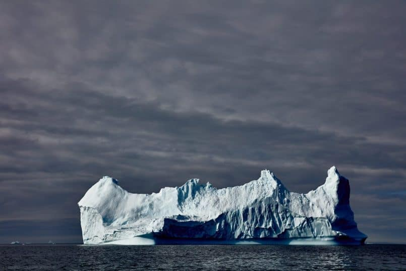 Iceberg with Heavy Sky