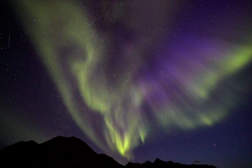 Aurora Borealis Near Tasiilaq