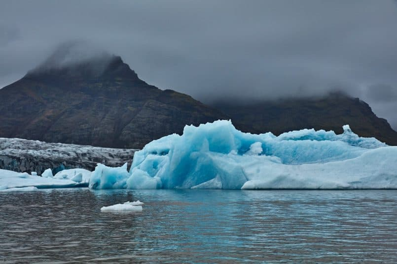 Fjallsárlón Icebergs and Glacier