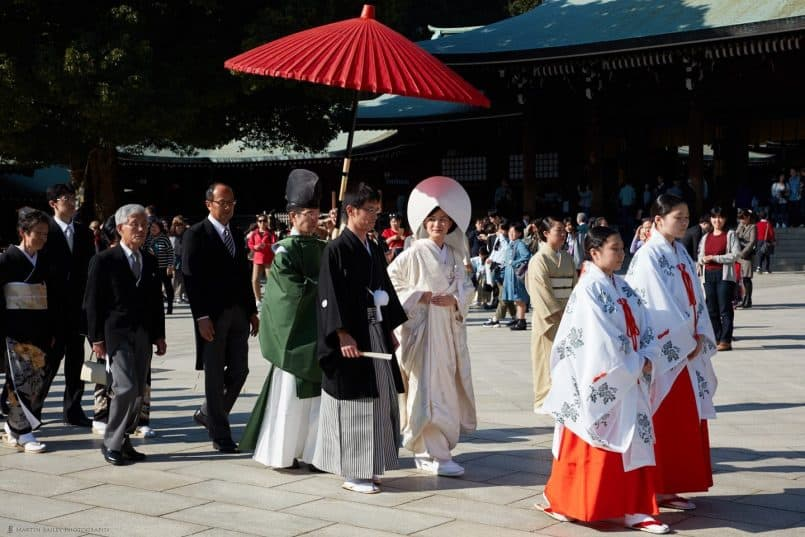 Meiji Shrine Wedding Procession
