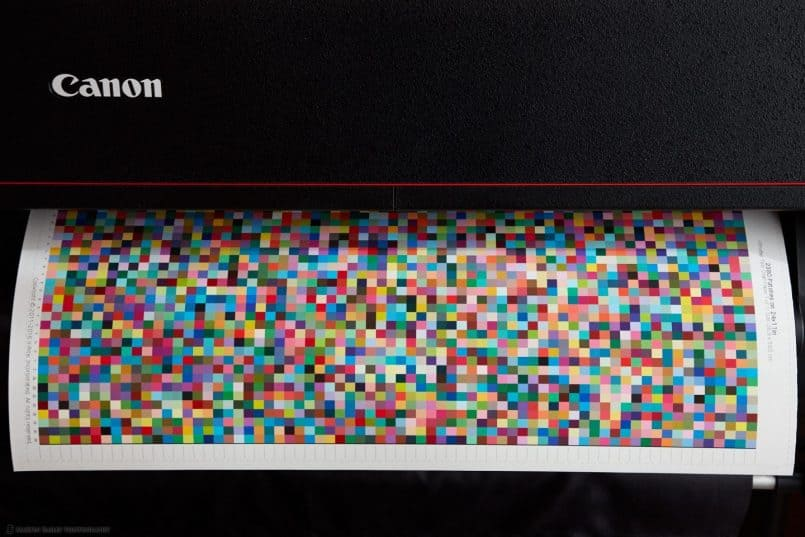Printing Profile Patch Sheet - Canon PRO-4000