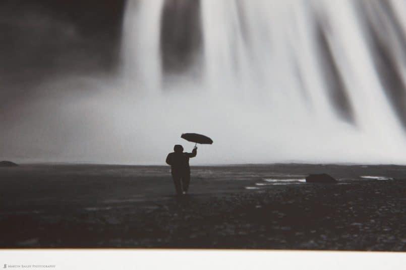 Close Up of Man with Umbrella Print