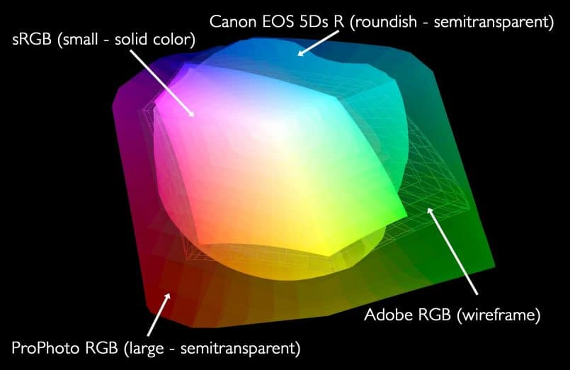 Camera Profile with Working Color Spaces