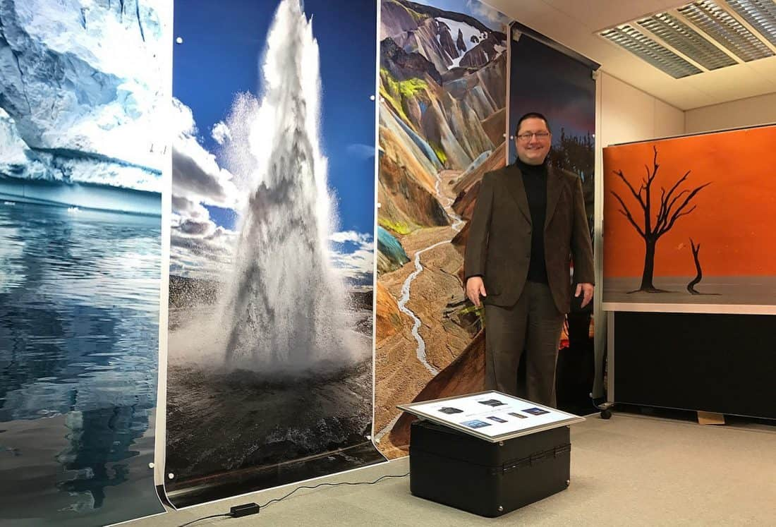 Martin at Canon Head Office with CP+ Test Prints