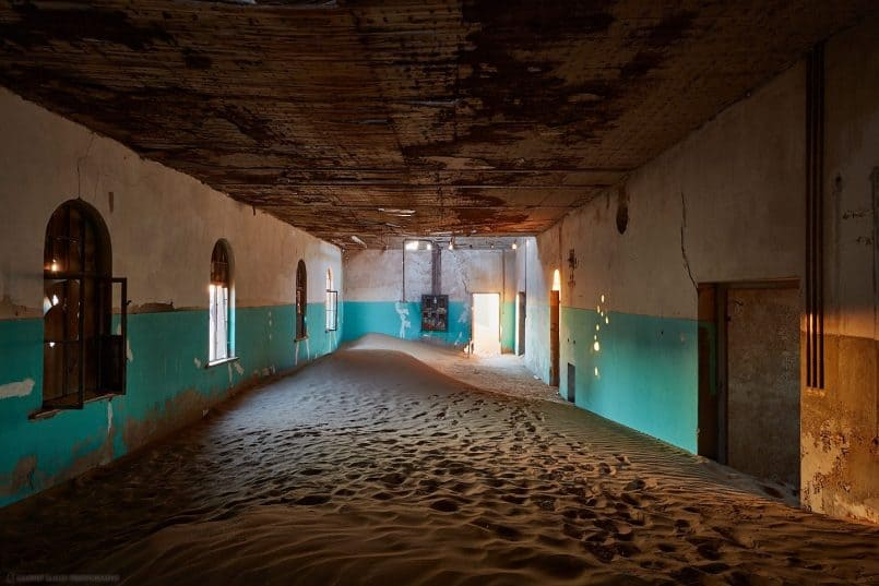 Kolmanskop Hall at Dusk