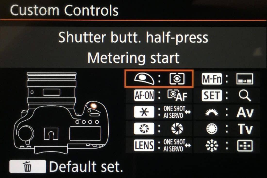 Canon 5Ds R Custom Controls