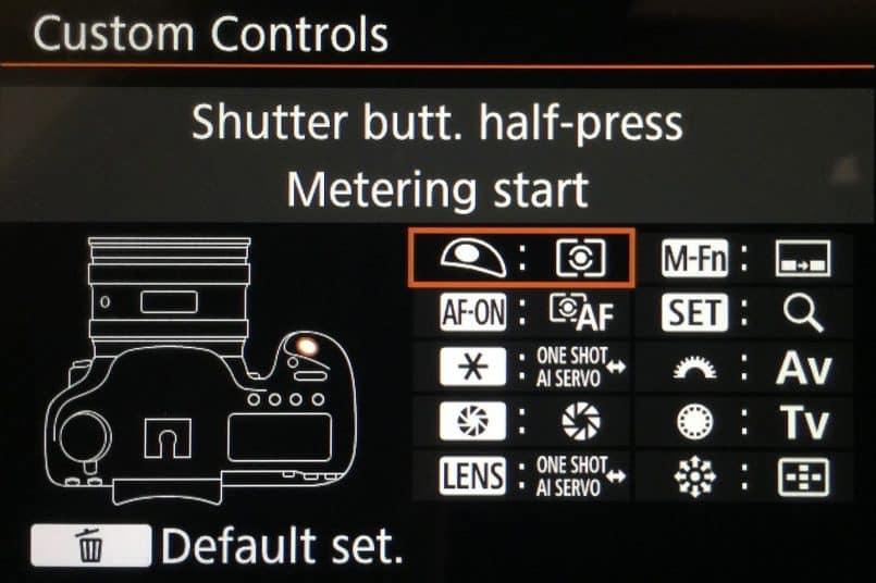 Canon 5Ds R Custom Controls