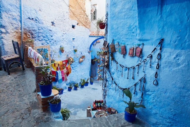 Decorated Blue City Walls