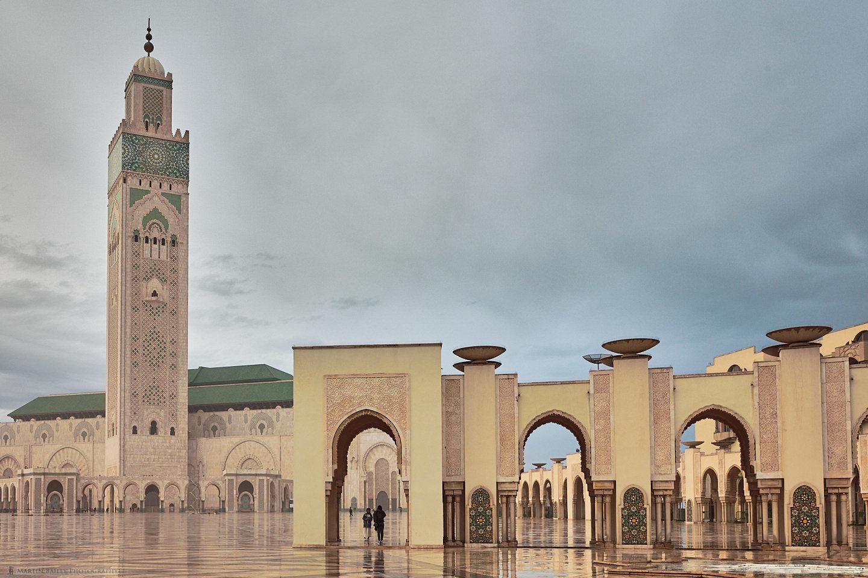 Hussan II Mosque in Rain