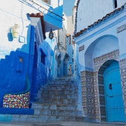 Lady in the Blue City (Chefchaouen)