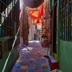 Colorful Fes Alleyway
