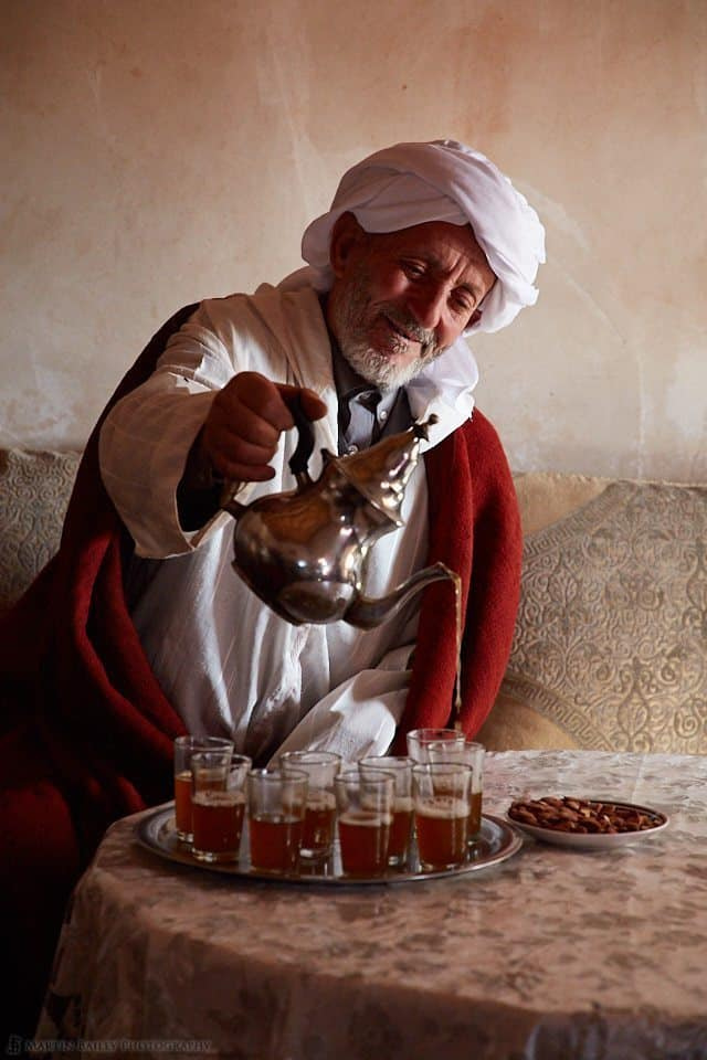 Moroccan Man Pouring Tea