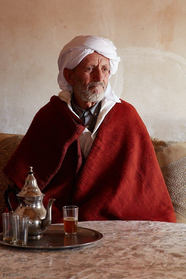 Moroccan Man in Window Light