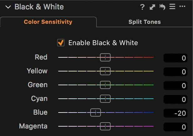 Enable Black and White