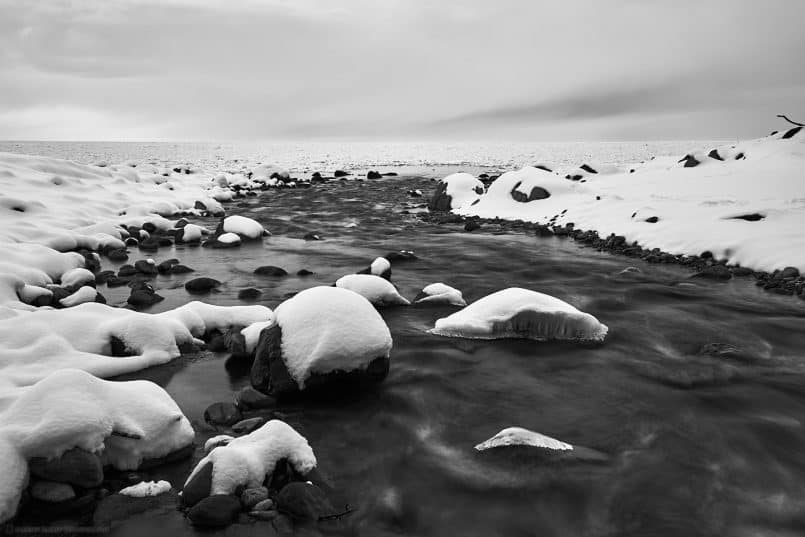 River Mouth and Sea Ice