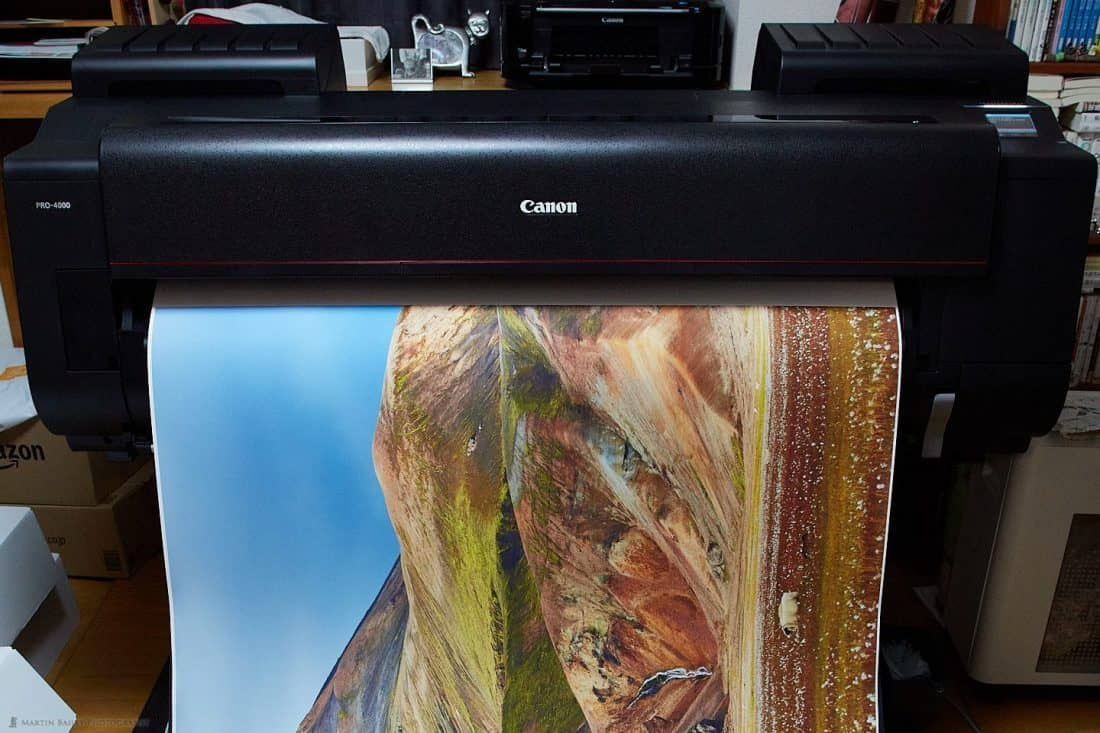 Large Format Print Emerging from PRO-4000 Printer