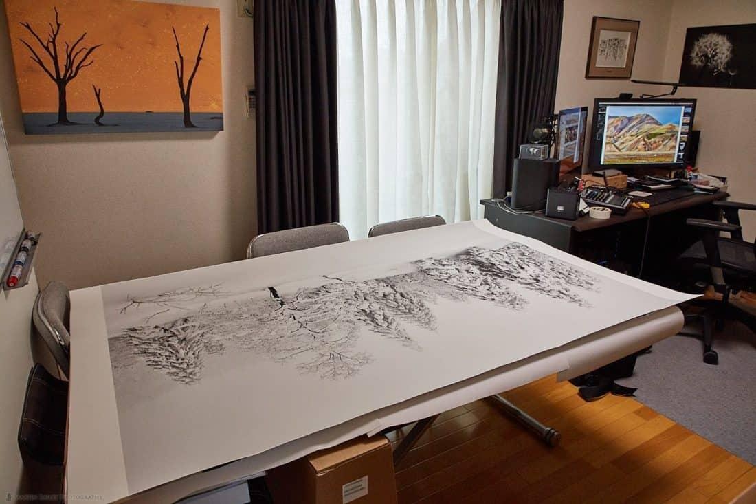 Degassing a 44x66-inch Print