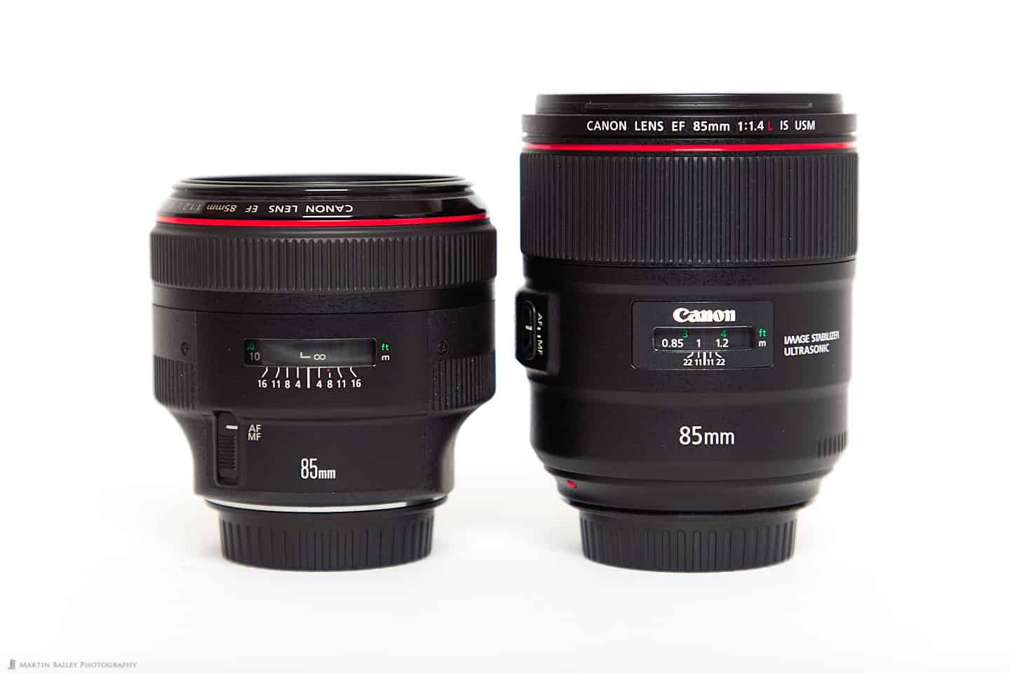 85mm f/1.2L II (left) 85mm f/1.4L IS (right)