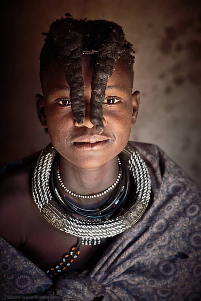 Himba Young Girl in Shawl (85mm f/1.4L IS lens)