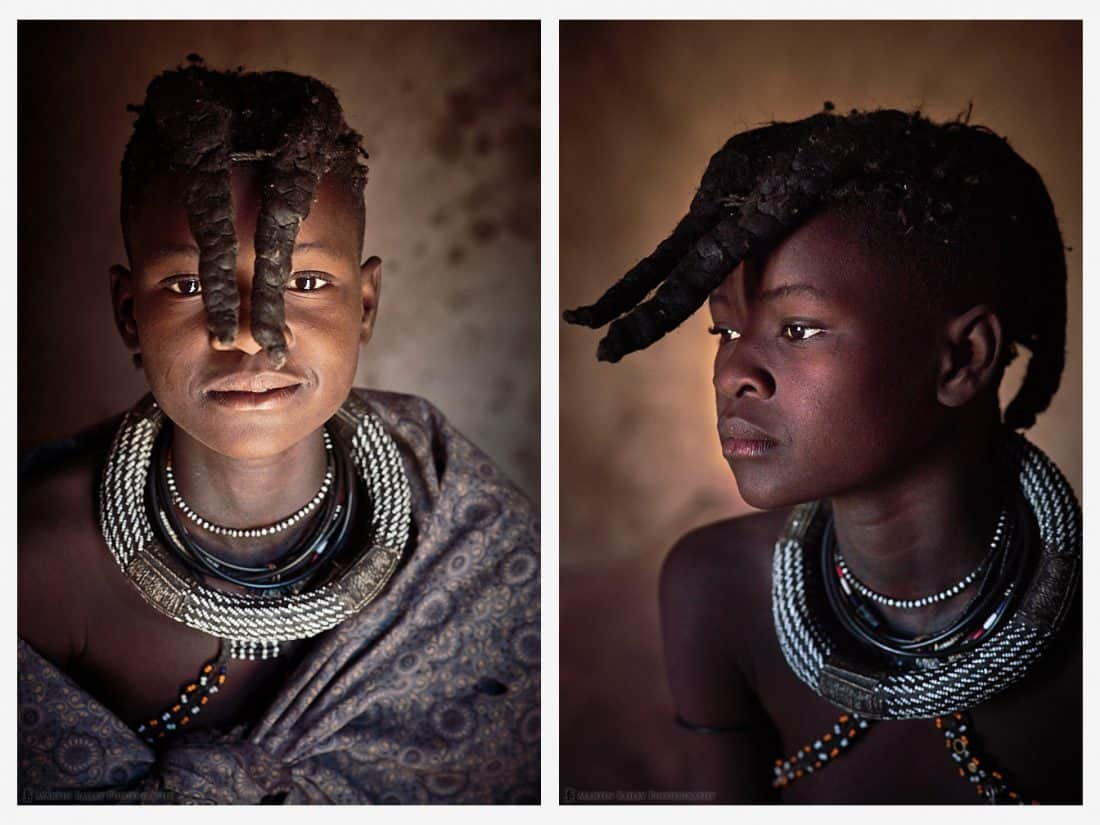 Himba Young Girl Portraits
