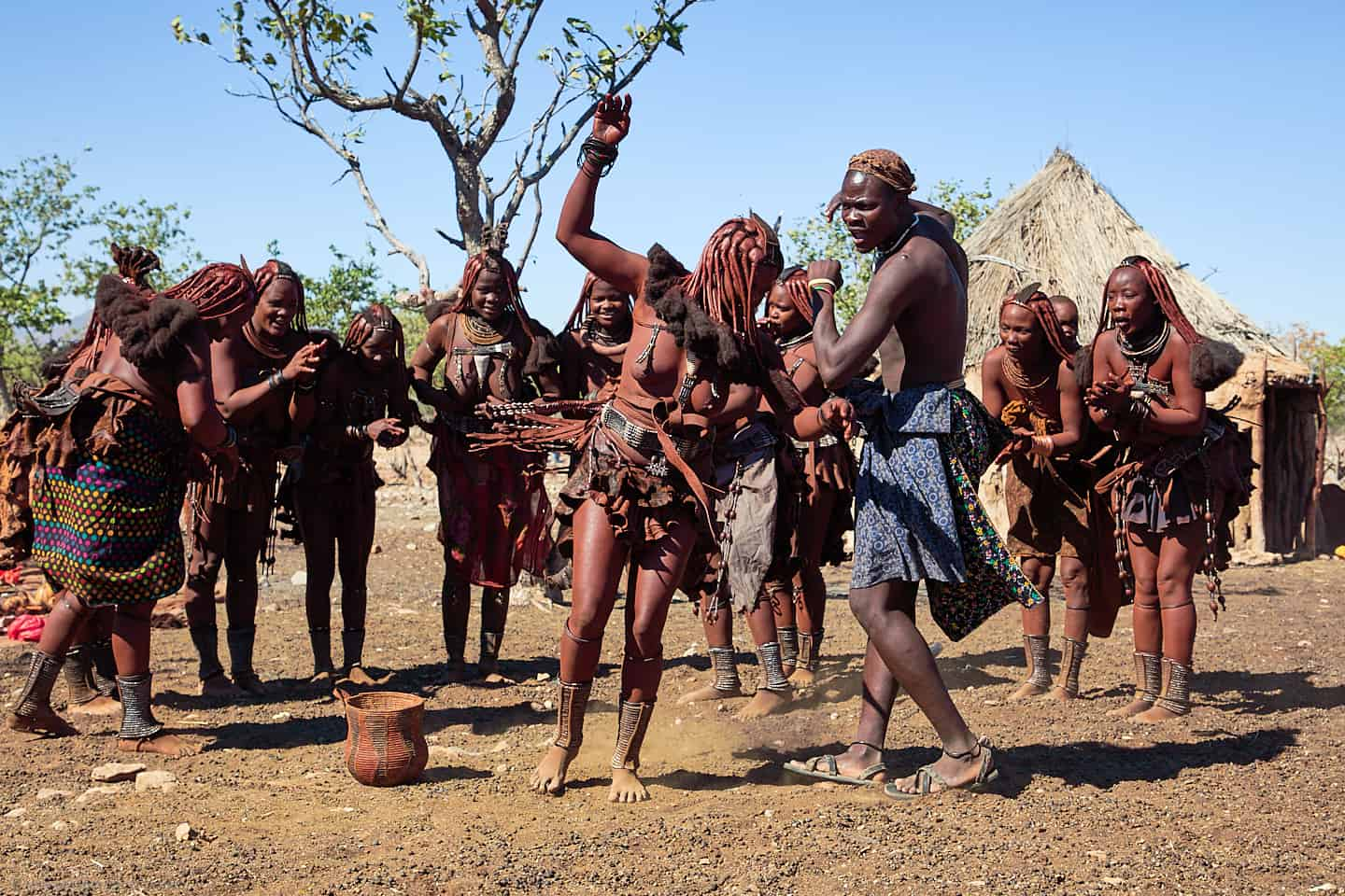 Himba Dancing in Group