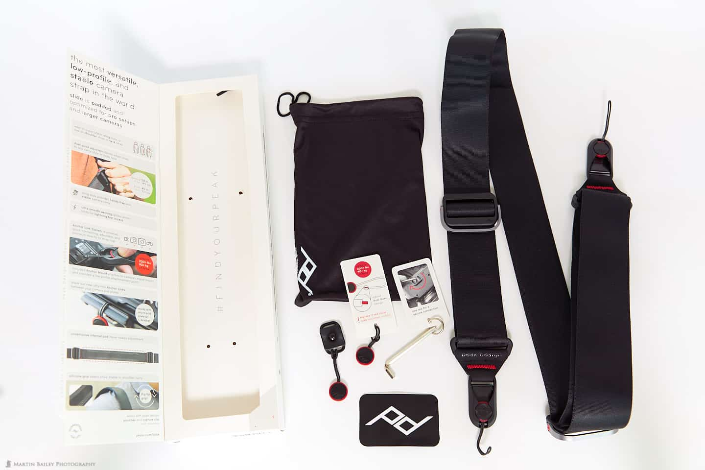 Peak Design Slide Strap Contents