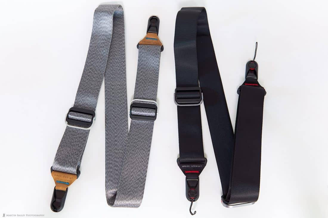 Peak Design Slide Straps in Grey and Black