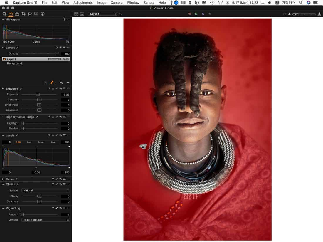 Drawing a Mask in Capture One Pro with Apple Pencil