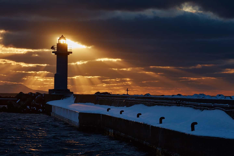 Noshappu Lighthouse Sunset