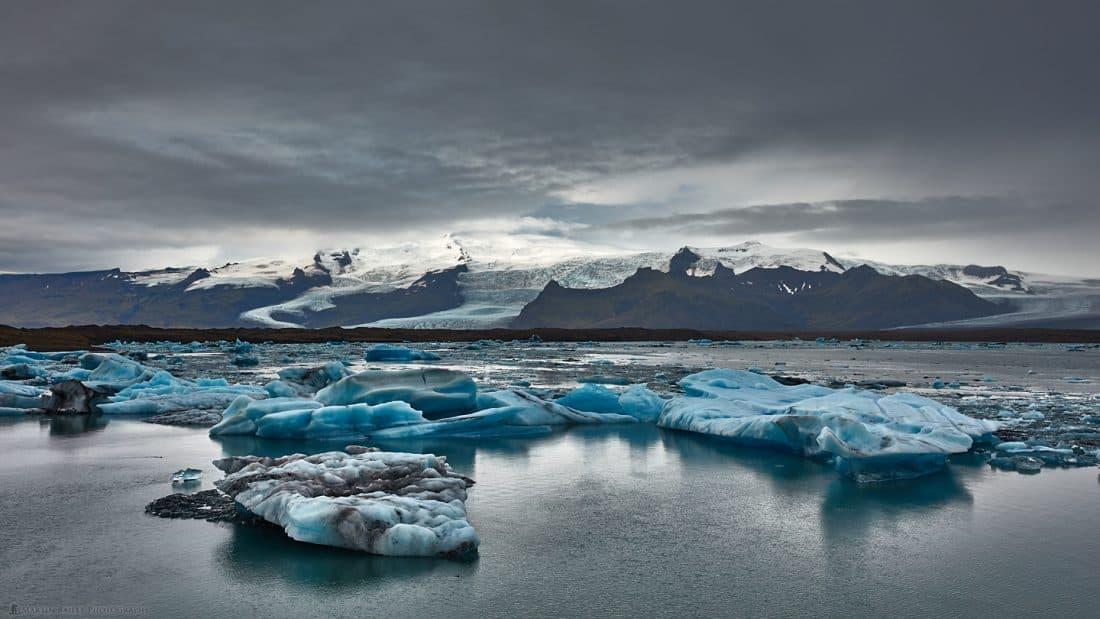 Jökulsárlón Icebergs and Glacier
