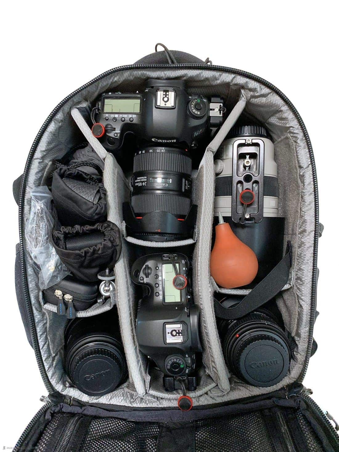 Martin's Travel Camera Bag Packed