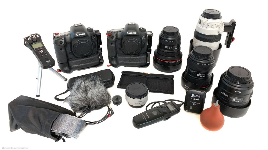 Martin's Travel Gear out of the Bag