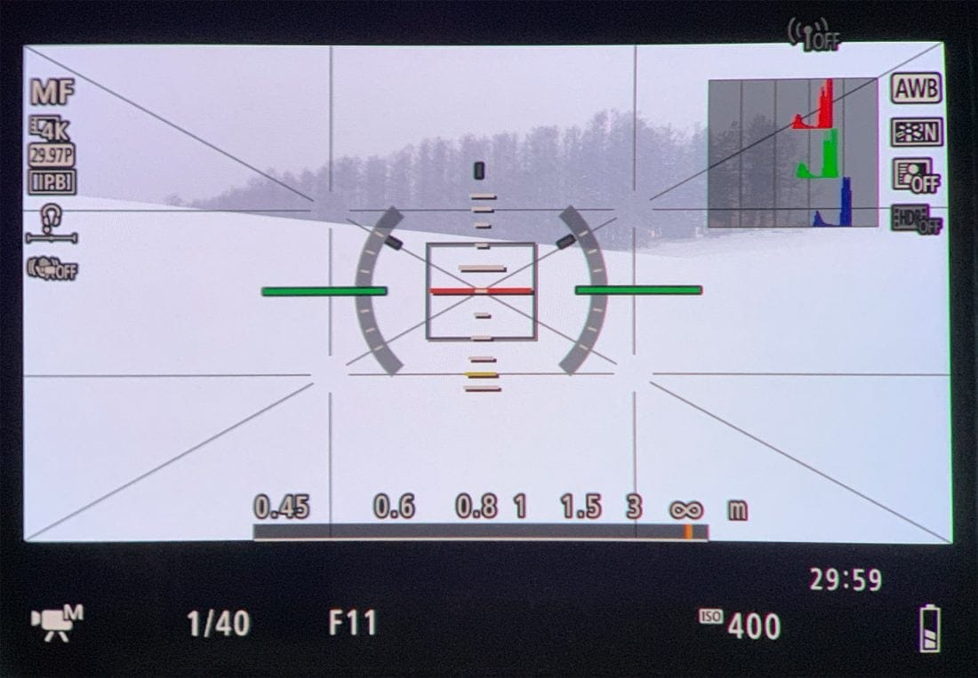 EOS R Viewfinder Distance Display