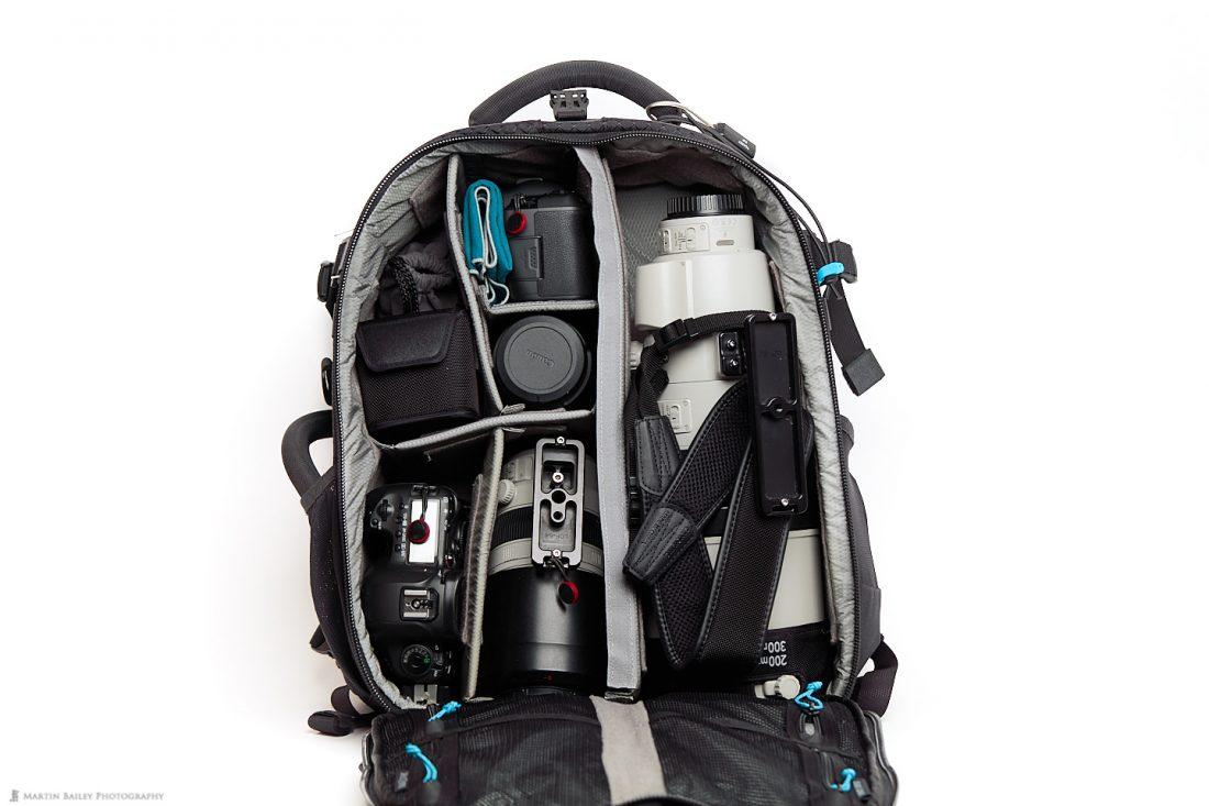 Camera Bag with EOS R + 5Ds R
