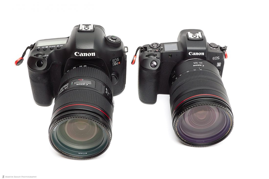 5Ds R (Left) with EOS R (right) and 24-105mm lenses